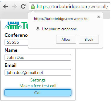 Allow WebCall